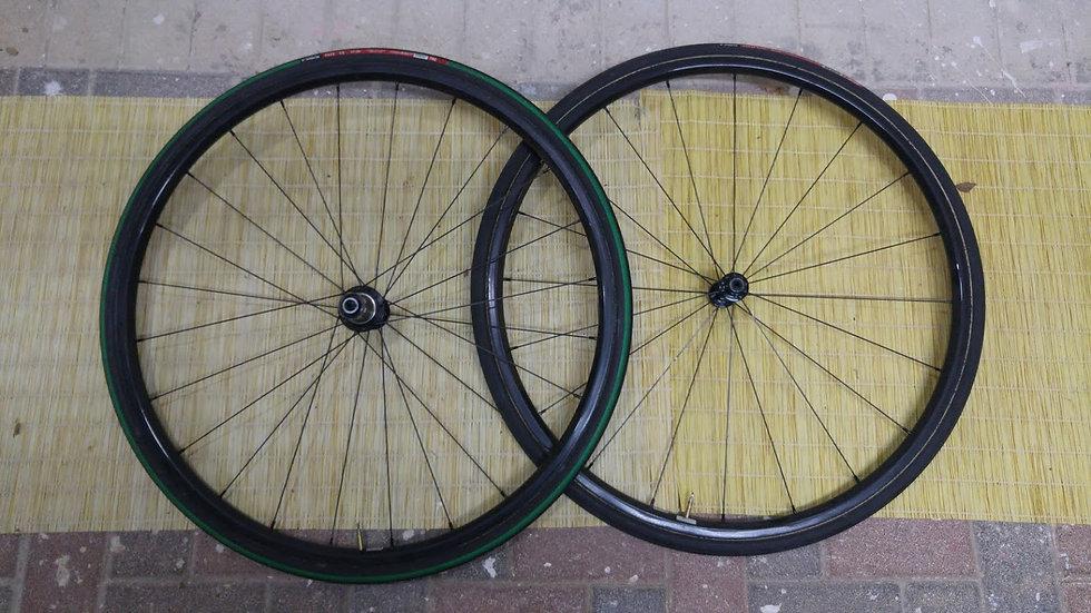 Used 24mm Deep Tubular Carbon Wheels