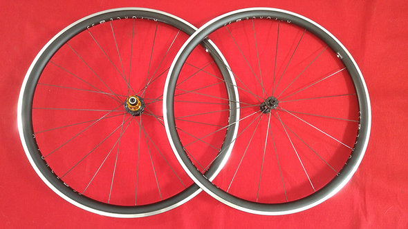 33mm Deep Aero Clincher/Tubeless Aluminum Wheels