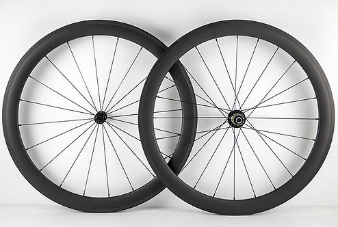 50mm Deep Clincher and Tubeless Compatible Carbon Wheels