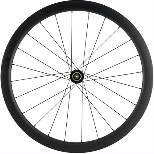 45mm Deep Disk Clincher/Tubeless Carbon Wheels