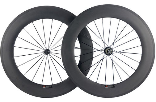 88mm Deep Clincher and Tubeless Compatible Carbon Wheels