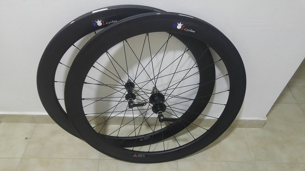 55mm Deep Tubular Carbon Wheel