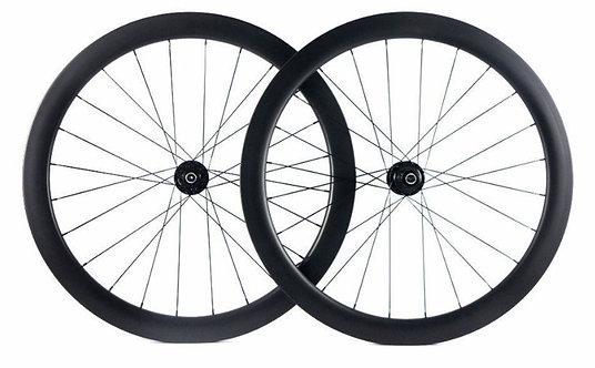 58mm Deep Disk Clincher/Tubeless Carbon Wheels