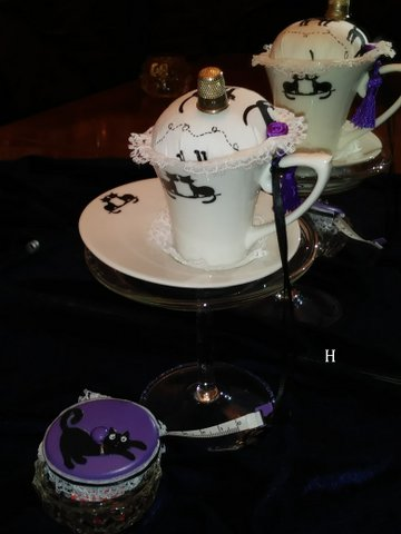Vintage Teacups & Pin Cushions