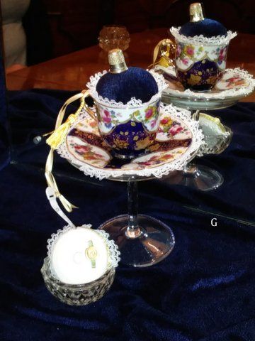 Vintage Teacups & Pin Cushions