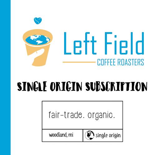 Coffee Subscription: Single Origin