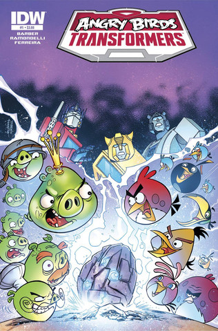 Angry Birds Transformers #1 - cover