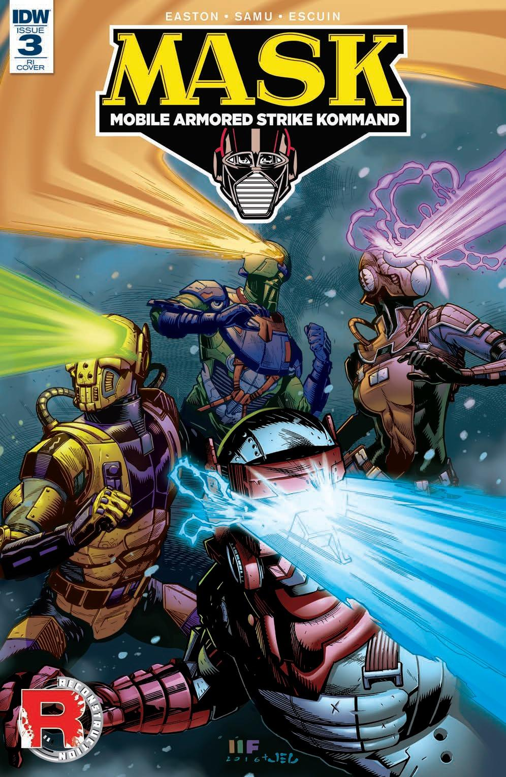M.A.S.K.#3 - IDW Publishing