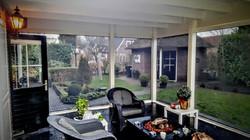 doorzicht van veranda-screen