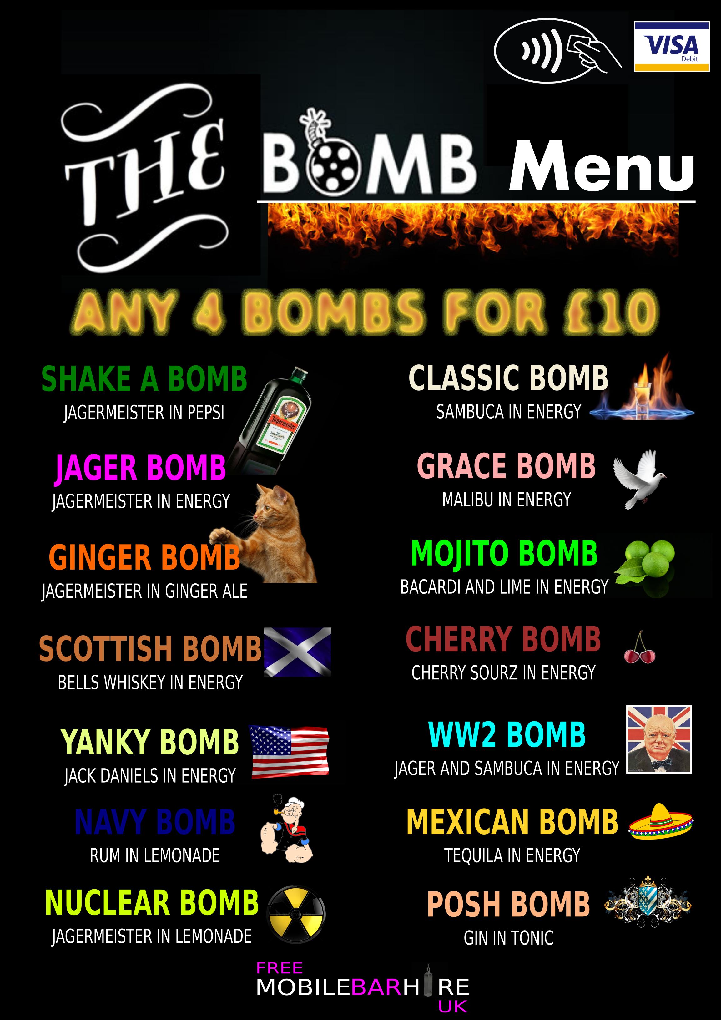2017 Bomb menu