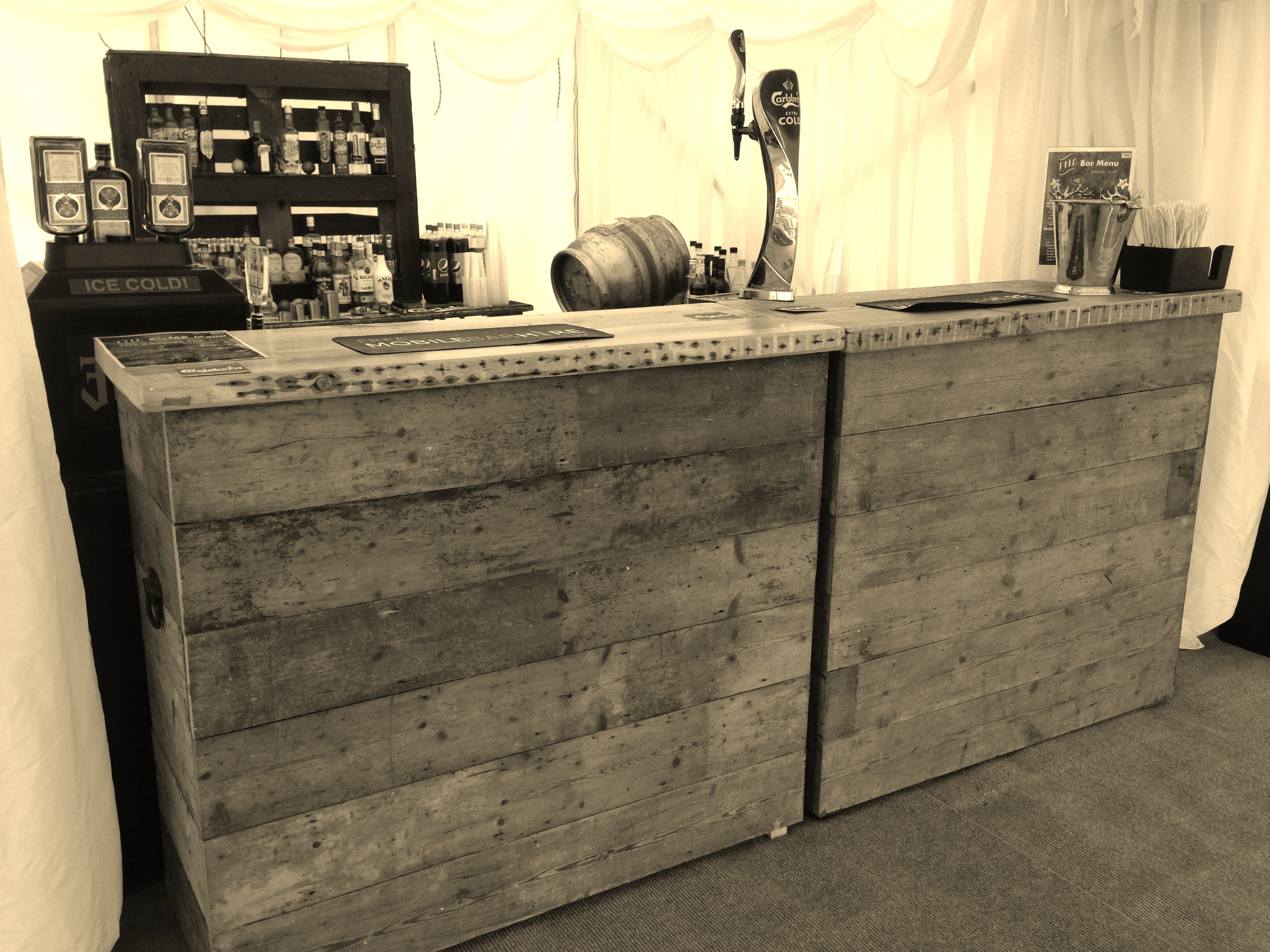 Rustic Bar Hire Lymington
