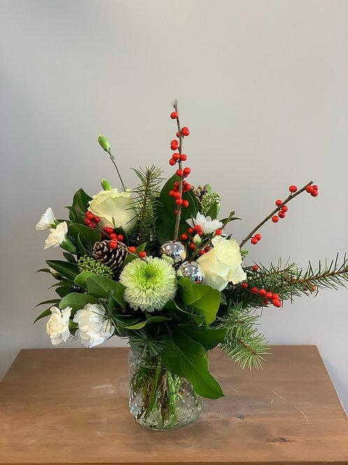 Hobnail Vase Arrangement