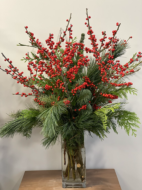 Berries and Evergreen Bouquet