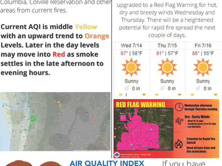 Air Quality Warning and Info 7/14/2021