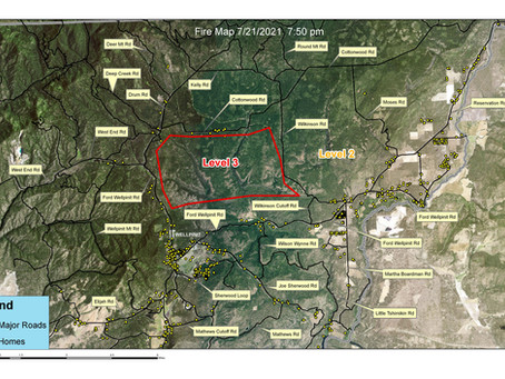 Evacuation Map For Spokane Indian Reservation, Sherwood Fire