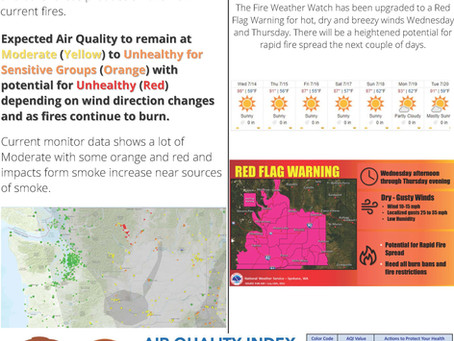 Public Notice - Air Quality and Red Flag Warning 7/13/2021