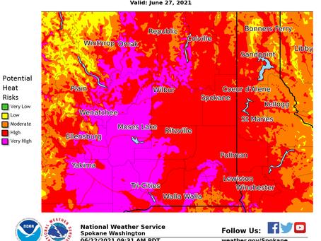 Dangerous Heat Wave 6/221-6/29/21