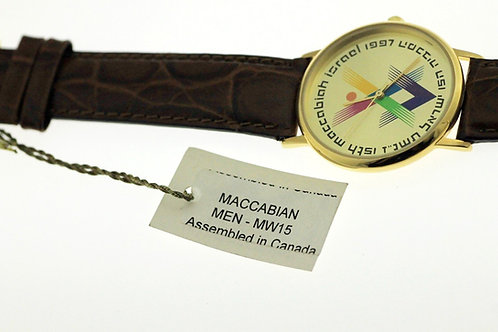 וינטג' יודאיקה שעון המכביה ה -15 בציפוי זהב מזכרת ישראל 1996