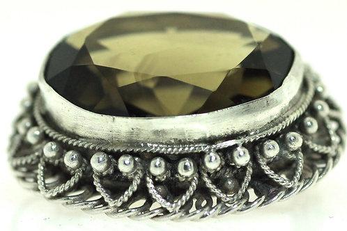 Vintage Judaica Silver 925 Filigree Pin, Brooch, Pendant Israel 50'