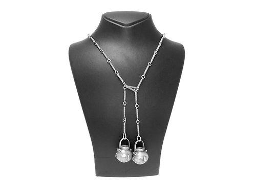 שרשרת עניבה וינטג' מכסף סטרלינג 925  עבודת יד אומנותית ישראל שנות '60 יחיד במינו aaronjewelryart.com