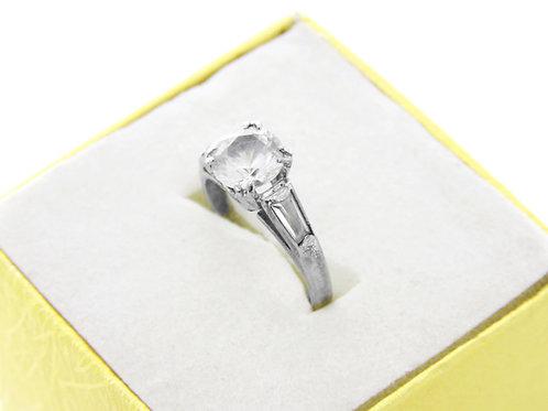 90' טבעת וינטג' מכסף סטרלינג 925 עם זירקונים בעיצוב קלאסי ישראל עבודת יד שנות ה aaronjewelryart.com
