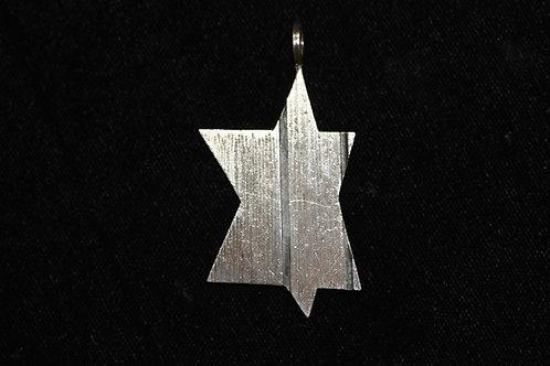 וינטג' יודאיקה מגן דוד מודרניסטי מכסף סטרלינג 925 ישראל '50