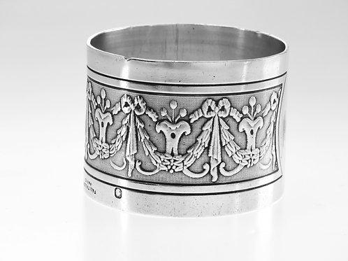 מפיון טבעת עתיק כסף סטרלינג 950 עיטור קלאסי צרפת פריז PAUL TALLOISמאה -'19  aaronjewelryart.com