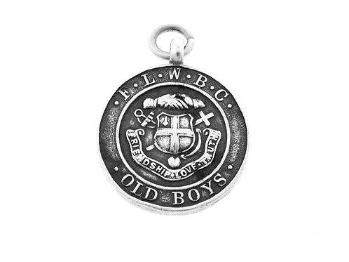 Vintage Sterling Silver 925 Medal Pendant F.L.W.B.C old boys England Birmingha aaronjewelryart.com