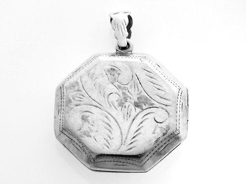 תליון וינטג' נפתח מכסף סטרלינג 925 בצורת מתומן בעבודת יד ישראל שנות ה '70  aaronjewelryart.com