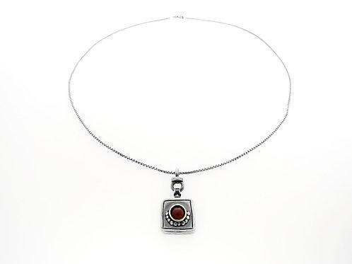 """שרשרת וינטג' מכסף סטרלינג  925 בעיצוב מודרני  """"שבלול"""" בעבודת יד ישראל שנות ה  80 aaronjewelryart.com"""