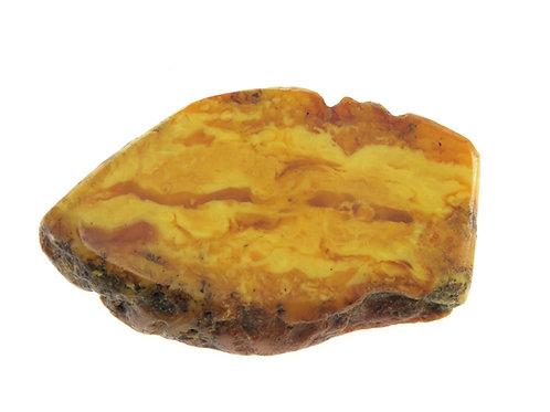 גוש אמבר טבעי בלטי לא מעובד עתיק רוסיה צבע צהוב חלמון ביצה משקל 17.8 גרם  aaronjewelryart.com