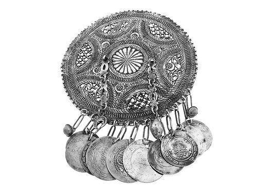 קמע עתיק 192 גרם מכסף יודאיקה לשמירה גדול בן פורת aaronjewelryart.com