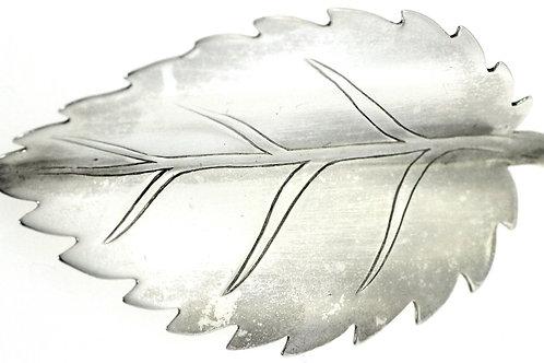 וינטג' סיכת בצורת עלה מודרני גדול מכסף סטרלינג 925 ישראל '50
