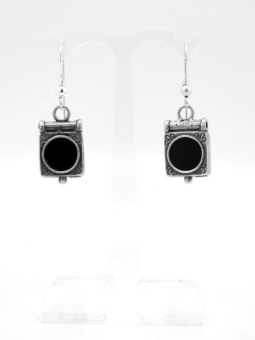 זוג עגילים וינטג' מכסף סטרלינג 925 ואוניקס מודרניסטי עבודת יד שבלול ישראל -'90 aaronjewelryart.com