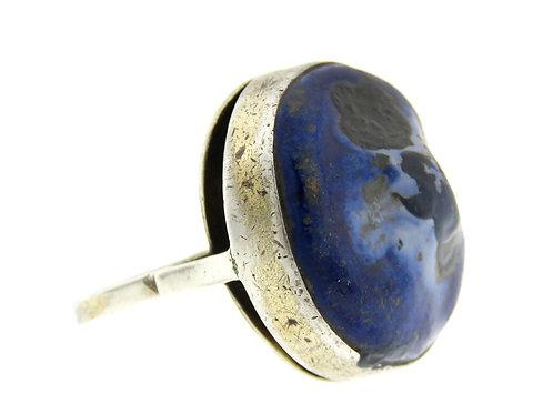 וינטג סטרלינג כסף 925 טבעת משובצת בקרמיקה מודרנית 50