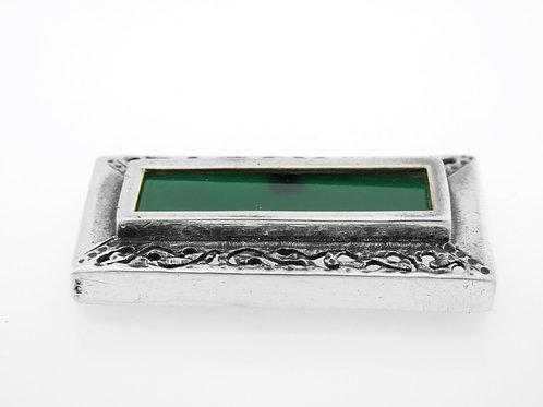 סיכה וינטג' מכסף סטרלינג 925 בעיצוב מודרני בעבודת ישראל שנות ה'80 aaronjewelryart.com