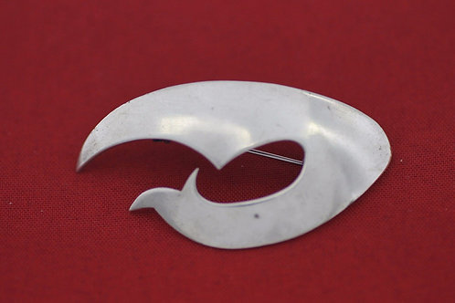 Vintage Silver 925 Modernist Artisan Pin, Brooch ,Pendant Israel 60'
