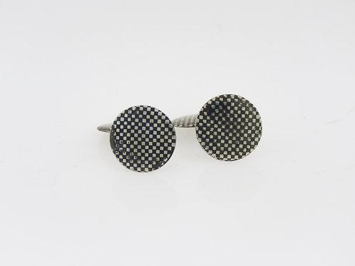 Vintage silver sterling 800 Enamel Artisan Cufflinks 2 side Art Deco 20' Germany