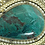 Thumbnail: וינטג' יודאיקה תליון סיכה פיליגרין משובץ אבן אילת מכסף סטרלינג 925 ישראל '50