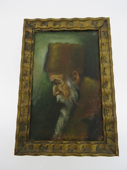 Vintage Oil painting Portrait of old Rabbi hand painting European work signed aaronjewelryart.com