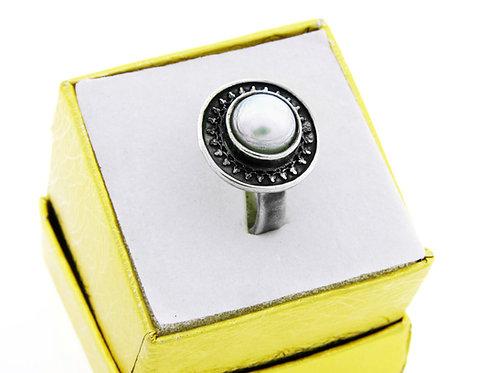 """טבעת וינטג' מכסף סטרלינג 925  מודרניסטי """"שבלול"""" בעבודת יד ישראל '90 aaronjewelryart.com"""