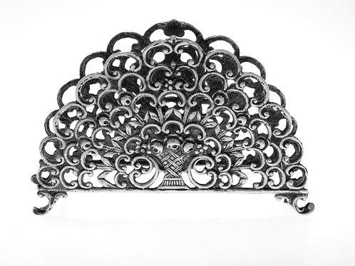 מפיון פתוח כסף מלא 800 עיטור שושנים הצורפים ישראל שנות ה - '50, משקל 56 גרם aaronjewelryart.com
