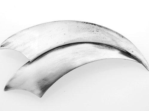 סיכת וינטג' מכסף סטרלינג 925 בעיצוב מודרני עבודת יד ישראל 60 '
