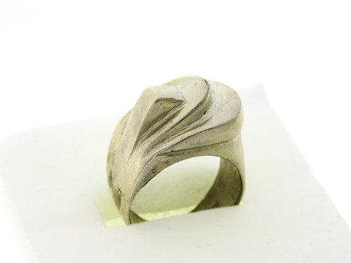 וינטג' טבעת מכסף סטרלינג 925  בעיצוב מודרני בעבודת יד ישראל '60  aaronjewelryart.com