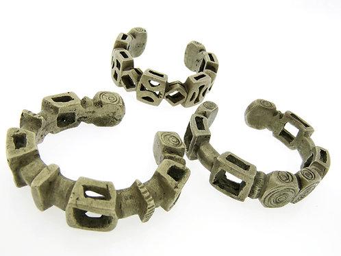 Lot 3 bracelets tribal North Africa low-grade silver alloy handmade 19th century aaronjewelryart.com