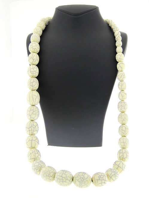 vintage necklace from Natural material seeds large and small beads vegetal ivory aaronjewelryart.com