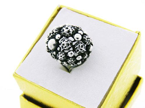 טבעת וינטג' מכסף סטרלינג  925 מעוצבת במודרני מתכוננת ישראל שנות ה '60 aaronjewelryart.com