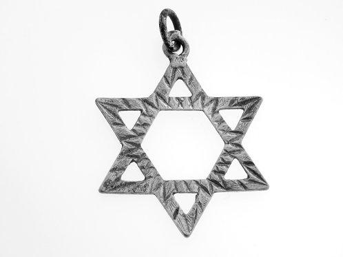 תליון וינטג' מגן דוד מכסף סטרלינג 925 יודאיקה ישראל שנות ה '60 aaronjewelryart.com