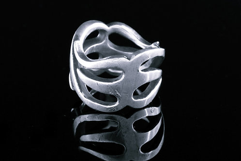 טבעת וינטג 'מכסף סטרלינג 925 מעוצבת מודרני ישראל שנות ה '60  aaronjewelryart.com