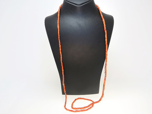 Natural Coral Beads Necklace Real Unpainted Russian Color Real Bukhari 31g aaronjewelryart.com
